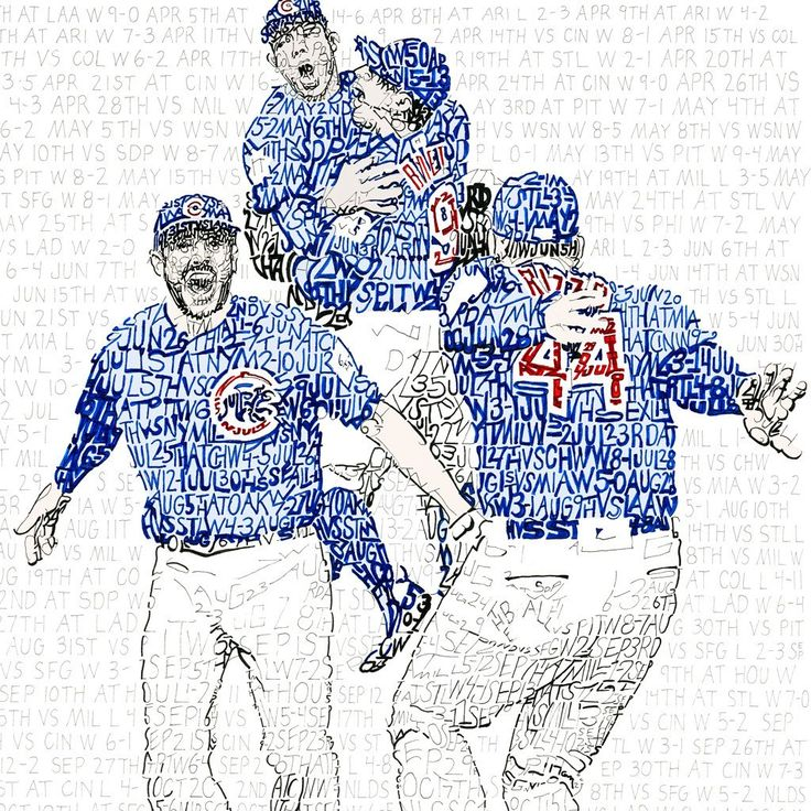 "Need a graduation gift for a Cubs fan? 2016 Chicago Cubs World Series Gift. artofwords.com   ""The Road to the 2016 World Series"" is an open edition print by artist Daniel Duffy. Duffy hand wrote the date, opponent, score and W/L from every game during the 2016 World Series Championship season.   This is the perfect gift for any dedicated Chicago Cubs fan.   - Officially Licensed MLB & MLBPA product - Made in the USA - Each print is hand signed by the artist  - Printed on acid free, archival…"