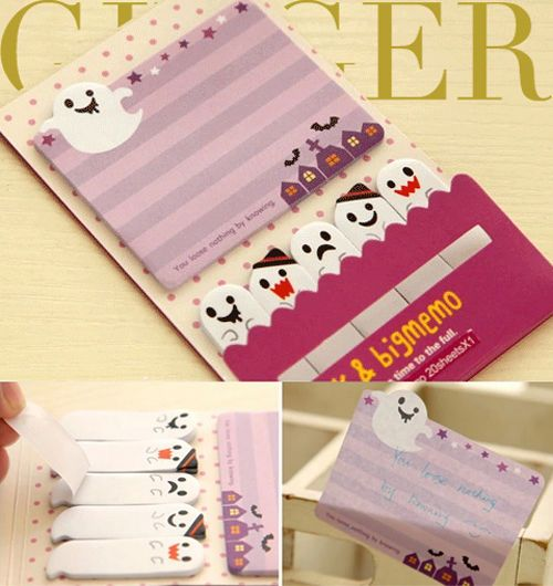 Ghost Night Sticker Post It Bookmark Marker Memo NotePad Sticky Notes  (AB05) #Others0