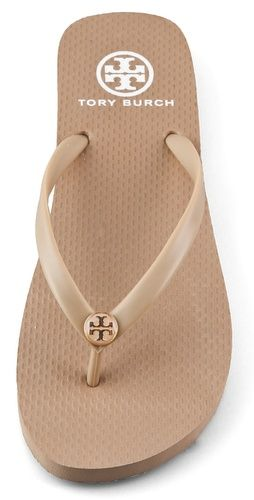 Khaki Tory Burch Flip Flops - empty bag NY Here I come soon soon soon