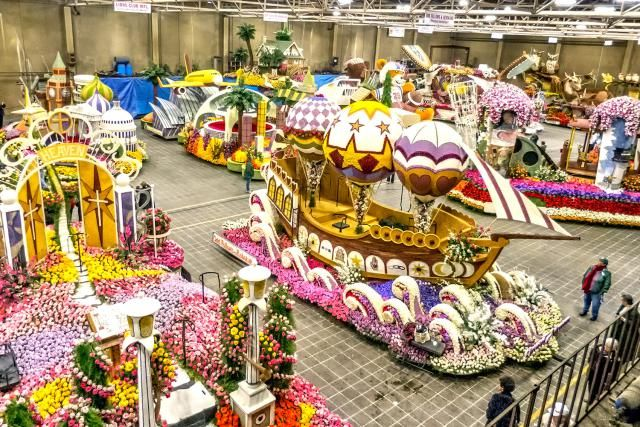 How Do They Do That? How to See Rose Parade Floats Being Built: How to Watch Rose Parade Float Decorating