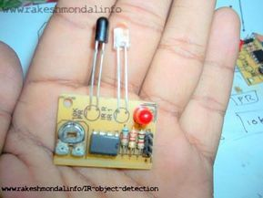 Infrared IR Object Detection schematic using IR LED and Photodiode , IR Sensor Circuit