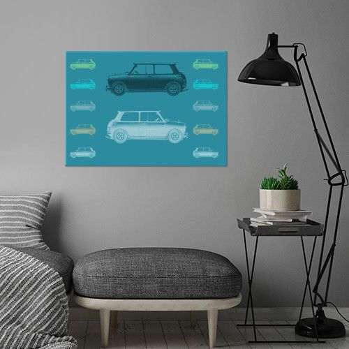 Vintage Cars metal print Poster. Today and Tomorrow with 15% discount. Just use code: 15weekend.  #cars #vintagecars #popart  #tealblue #letstravel #displate #homedecor #gifts #mancave #carlover #kidsroom #sales #discount #save #modern #art
