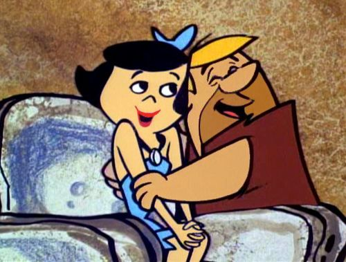 Barney and Betty Rubble... maybe true love does exist, just in the stone age