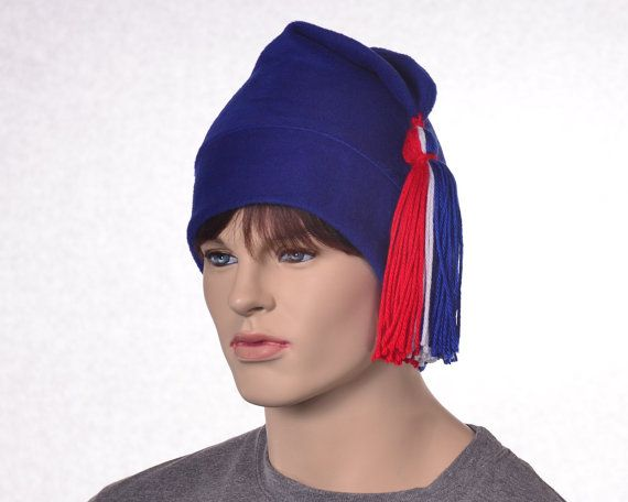 Royal Blue Phrygian Cap Red White Blue Tassel Liberty Cap Mens Womens Hat Pointed Hat with Tassel 4th of July Revolution Hat Bastille Day