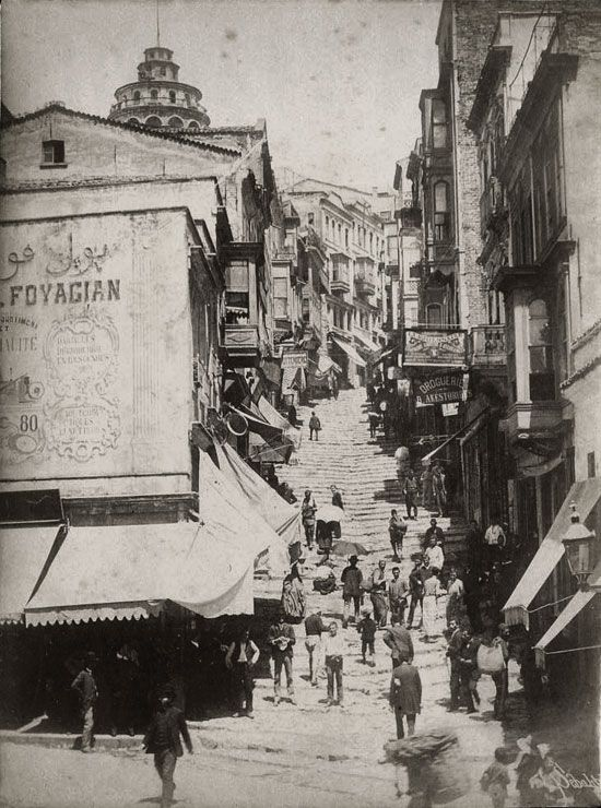 Rue de Yüksek Kaldırım, Galata