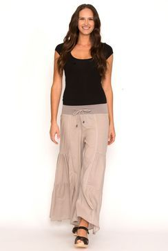 Flare Trouser Soft Grey