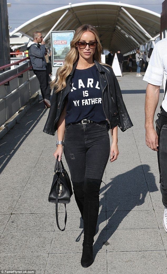 Lauren Pope shows off her lean legs in snug skinny jeans OKT boots - Celebrity Fashion Trends