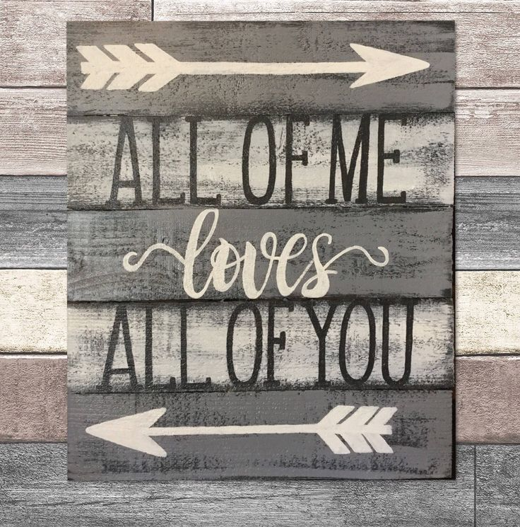 Excited to share the latest addition to my #etsy shop: All of me loves all of you wooden sign - hand painted sign, country decor, signs for wedding, anniversary gift, wood signs with sayings #signsforthehome #bedroomsign #personalized #songlyricsigns #painting #art #primitivedecor #signswithquotes #rusticdecor