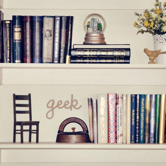 Little Geek sign for your library, study area, or school locker $5.00 #back_to_school #school #geek #library #home_library #decoration #locker_decoration