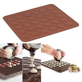 El precio de fábrica al por mayor 26 * 29cm Macaron silicona Mat, utensilios para hornear de Navidad, Muffins / almendra tortas redondas herramientas cortador de galletas