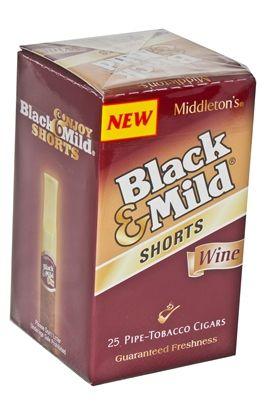 Black & Mild Cigars Shorts Wine Box - Cheap Little Cigars