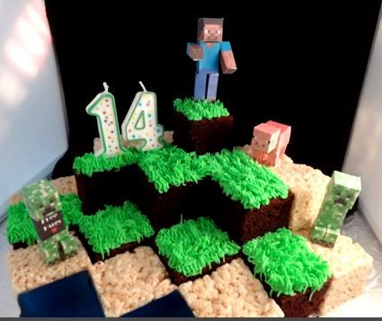 Best Minecraft Cake Ever - Foodista.com