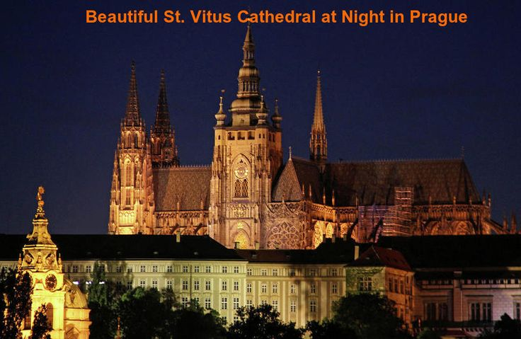 Enjoy the beauty of Prague city by hiring a segway. During your Prague city tour you must visit the beautiful St. Vitus Cathedral. Here is the night view of St. Vitus Cathedral. #Praguetour #Praguecitytour #St.VitusCathedralinPrague. #segwaytourPrague