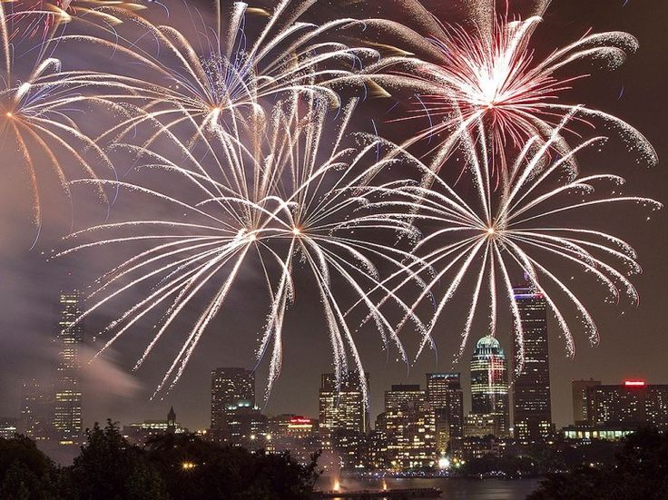 Boston Pops Fireworks Spectacular. Boston's show is culminates in Tchaikovsky's resounding 1812 Overture, which features real cannon fire. 20,000 pounds of pyrotechnics are shot from seven barges in the Charles River.