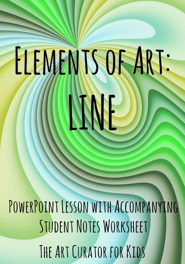 Elements of Art: Line Lesson
