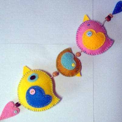 Make a Cute Hanging Felt Bird Decoration