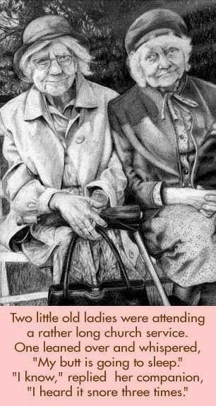Old Ladies at Church