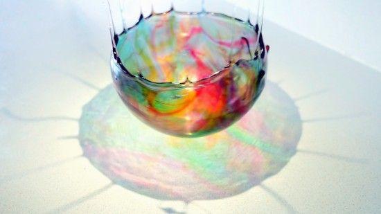 how to make an edible sugar bowl. Pour over ice to make edible coral