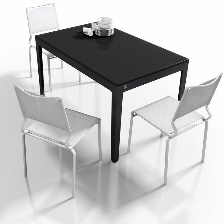 Mesa extensible modelo capuccina en color negro es una - Mesas de comedor para espacios pequenos ...