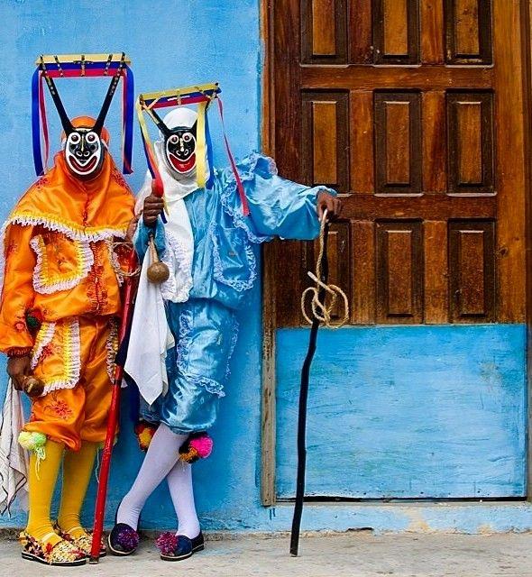 Vestimenta típica de los Diablos de Chuao, Estado Aragua, Venezuela
