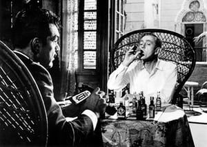 'Bite-of-the-nail suspense …' Alec Guinness (right) and Ernie Kovacs in Our Man in Havana (1959).