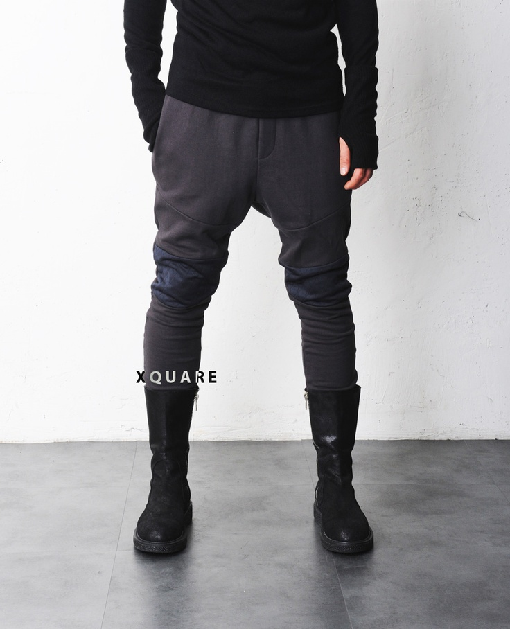 Mens Drop Crotch Quilted Point Sweat Pants at Fabrixquare $51