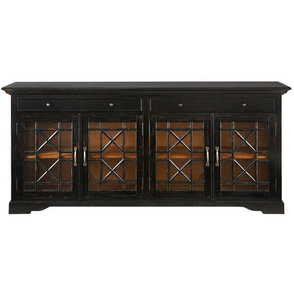 Taja Belle Media Cabinet In Black ($1,849) ❤ liked on Polyvore featuring home, furniture, storage & shelves, entertainment units, black, media cabinet, media furniture, media storage furniture, media storage cabinet and black media cabinet