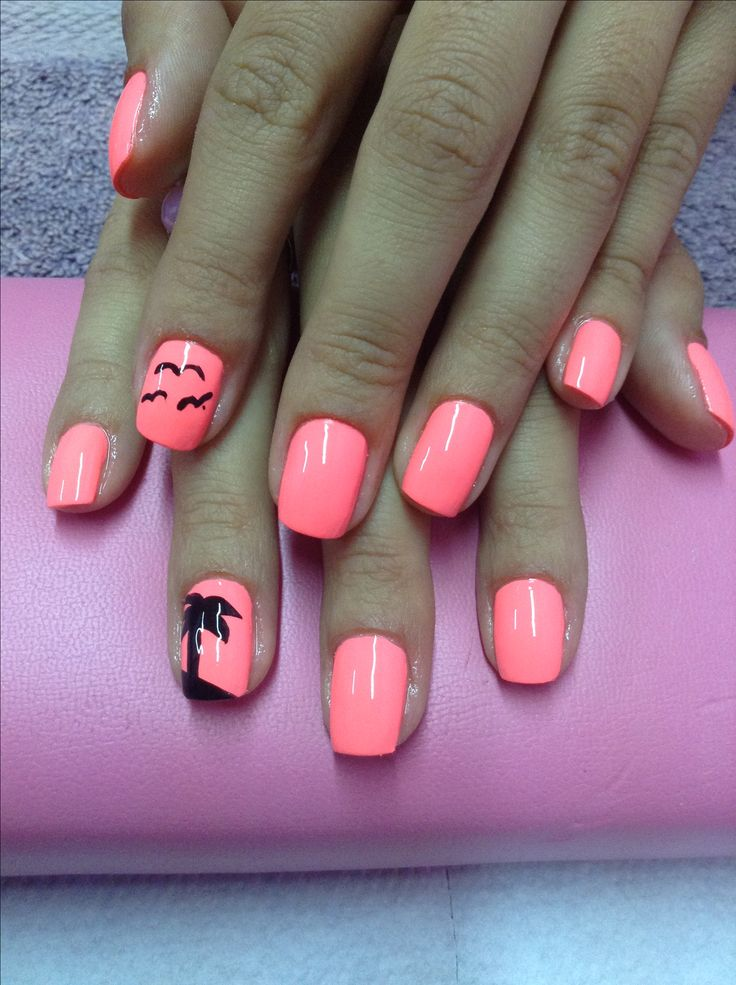 Get this Vacation look at Polished Nail Bar! Milwaukee and Brookfield Locations #Nails #Tropical #Warm! Like us at www.Facebook.com/NailBarPolished