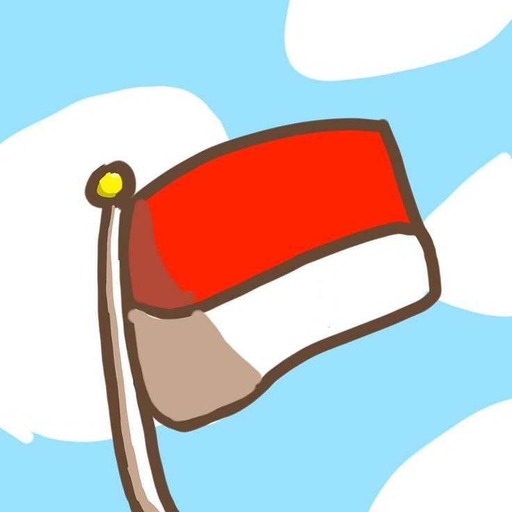 Indonesian flag doodle
