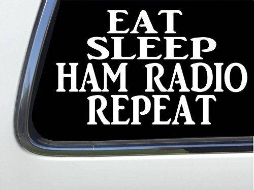 "ThatLilCabin - Eat Sleet Ham Radio Repeat 6"" decal sticker AS1312 #ThatLilCabin #Sleet #Radio #Repeat #decal #sticker"