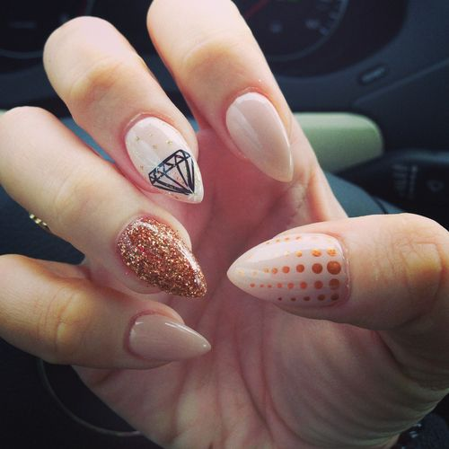 Oval Nails Design Tumblr 1) oval nails |...