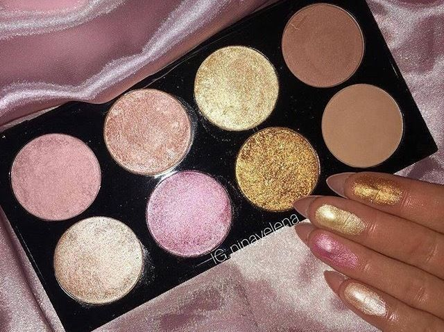I Heart Makeup Revolution Golden Sugar 2 Rose Gold Blush & Highlighter Palette B