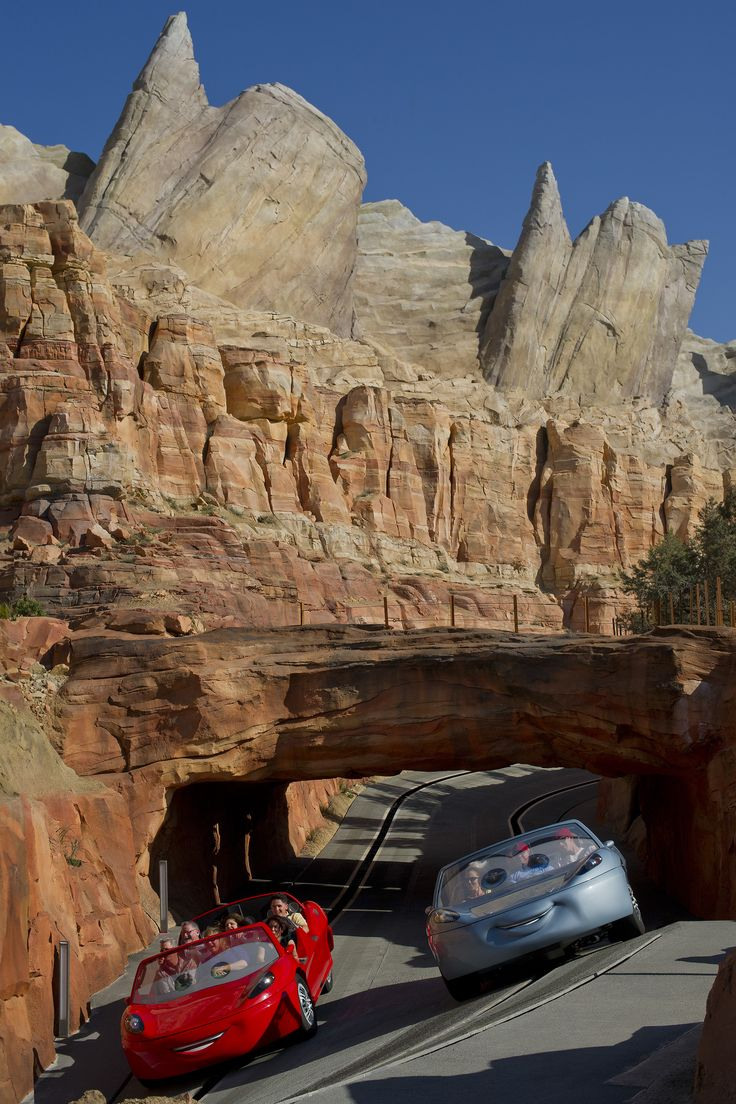 4,000 Tons of steel was used to construct the Ornament Valley range and Radiator Springs Racers attraction in Cars Land #CaliforniaAdventure #DBTN #Pixar #Disneyland
