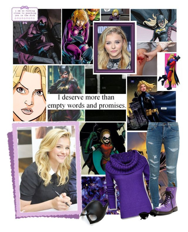 """"" Sheesh. You'd think I'd never gone up against a psychotic hostage-holding martial arts master who wants to kill Batgirl before."" - Stephanie Brown"" by hufflepuff9832 ❤ liked on Polyvore featuring Nicole Miller, Grace, DC Shoes, Mexx, Yves Saint Laurent, Dr. Martens, Masquerade, women's clothing, women and female"