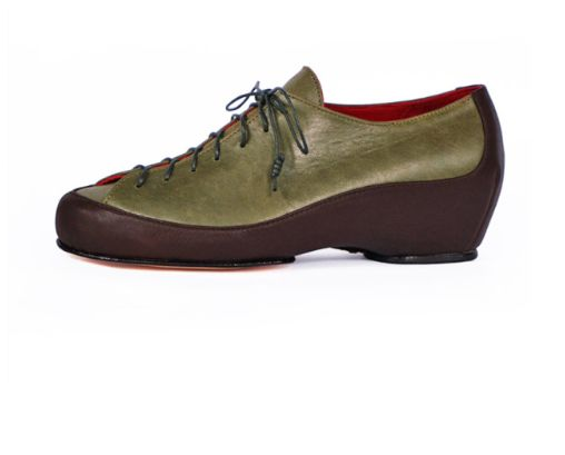Low rock climber khaki & chocolate leather #sports-luxe