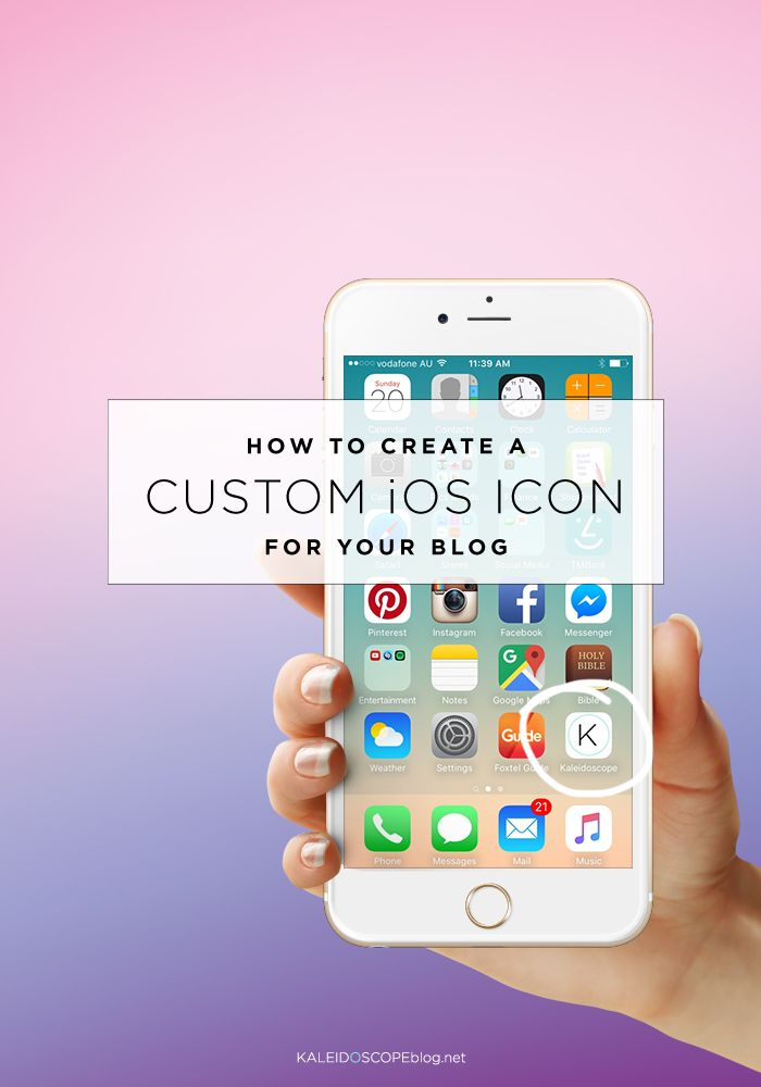 HOW TO CREATE A CUSTOM ISO ICON FOR YOUR BLOG | Kaleidoscope