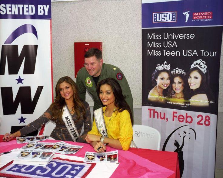 Miss America and Miss Teen America, Atsugi, Japan