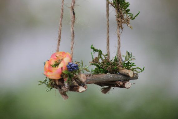 Garden Fairy Swing by Olive Handcrafted by OliveNatureFolklore