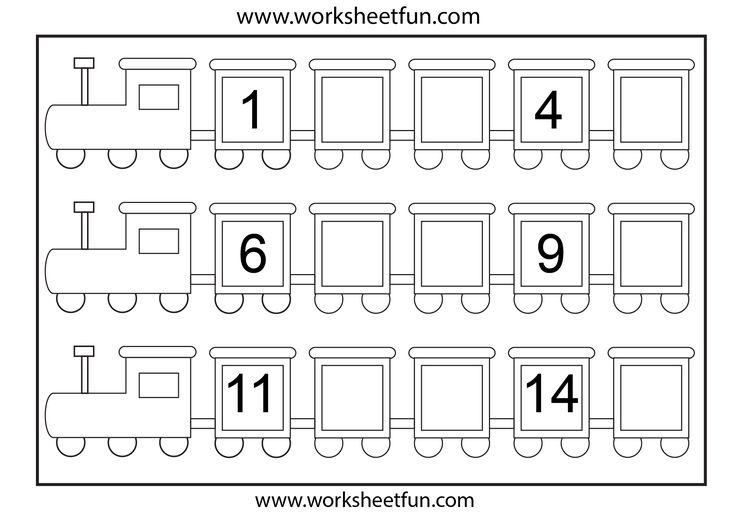 Preschool Missing Number Worksheets