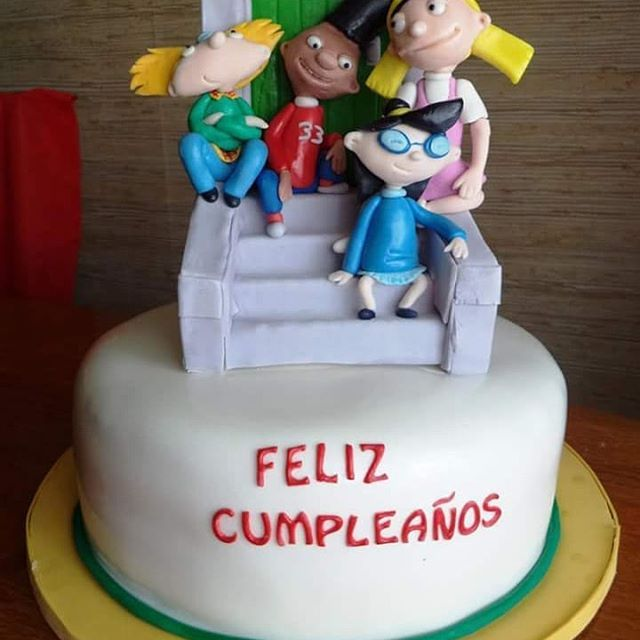 #HeyArnold #Fondant #cake by Volován Productos #OyeArnold #instacake #puq #Chile #VolovanProductos #Cakes #Cakestagram #SweetCake