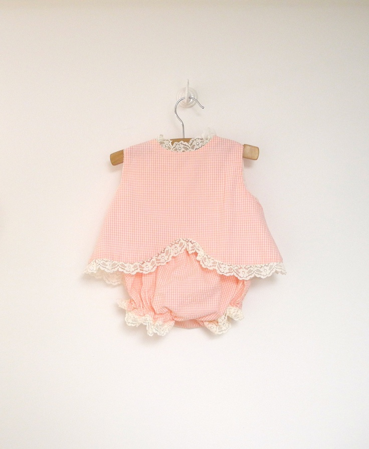 Vintage baby outfit. So sweet!
