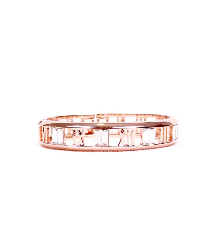 Roman Numeral Hollow Out Bangle Jewelry Roman Numerals