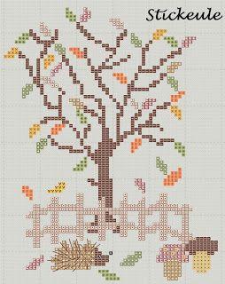 Autumn/ Fall cross stitch patterns