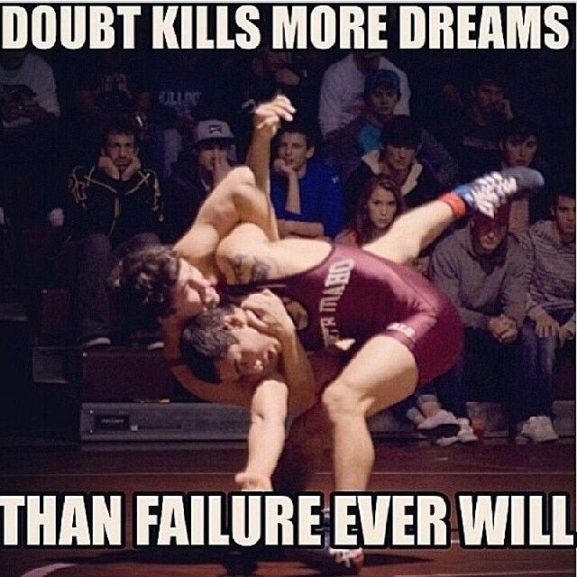 Failure does hurt but it doesn't hurt as much if u know u give it ur all #wrestling #life #dreambig #neverbackdown #thegrind #happiness #circle #mats #neverquit #dontgiveup #singlet #headgear #wrestlingshoes #wrestlingprobs #wrestle