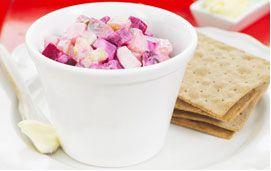 Питательный салат из сельди. Nutritional herring salad