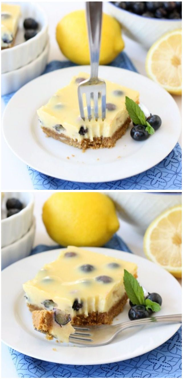 Lemon Blueberry Bars Recipe