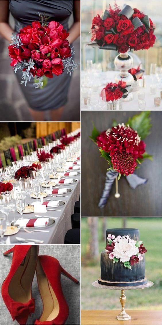 El gris carbón es un color que marca tendencia en bodas 2017.