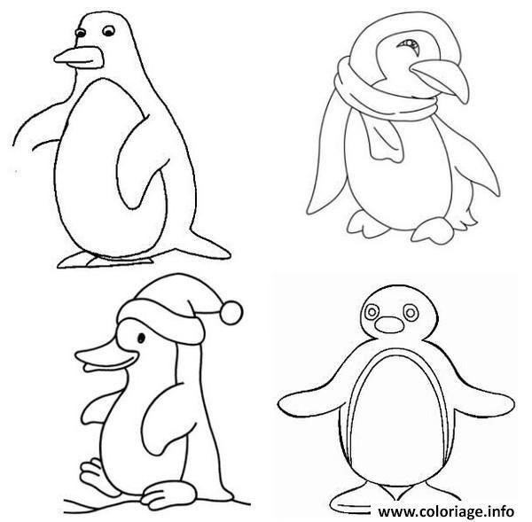 Coloriage Dessin Pingouin Banquise Dessin A Imprimer Coloriage