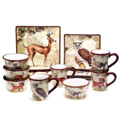 Certified International Rustic Nature Dinnerware and Serveware Collection - www.BedBathandBeyond.com