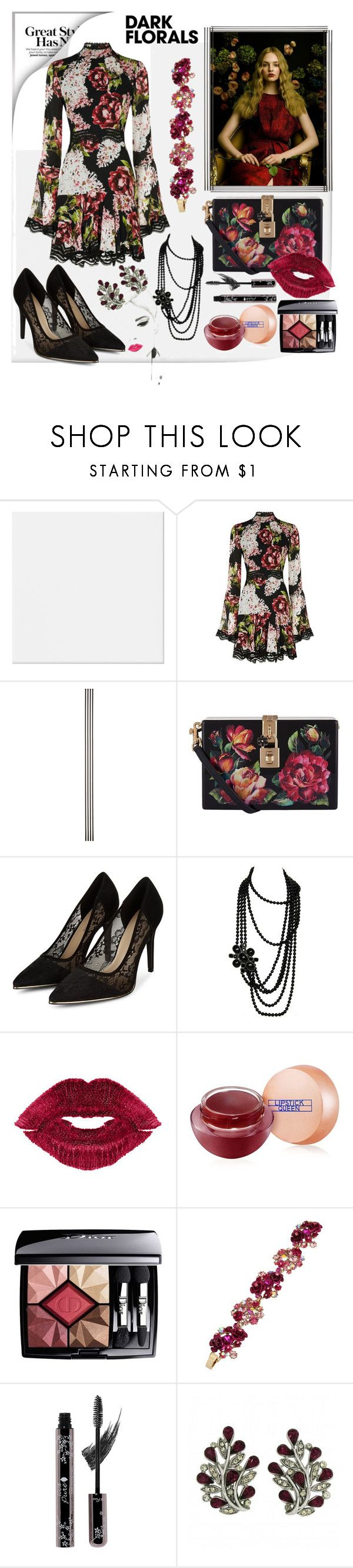 """""""Court And Spark 💖"""" by mavinex-de-nova ❤ liked on Polyvore featuring Nicholas, Improvements, Dolce&Gabbana, Chanel, Manic Panic NYC, Lipstick Queen, Christian Dior, Betsey Johnson, 100% Pure and Trifari"""